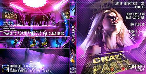 Crazy Party - After Effects Project