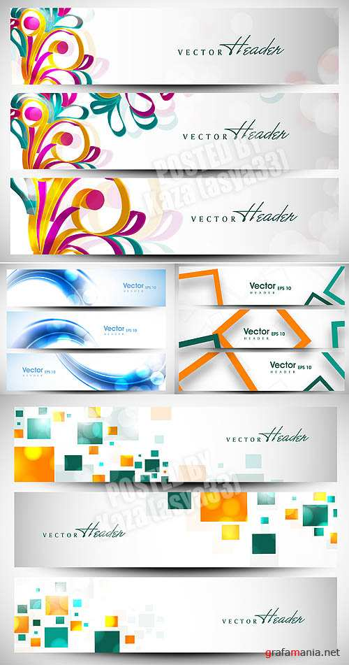 Abstract banners 5