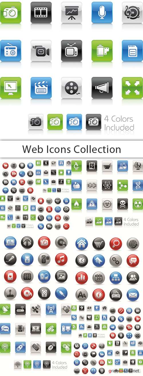 Web Icons Collection - 25 EPS Vector Stock