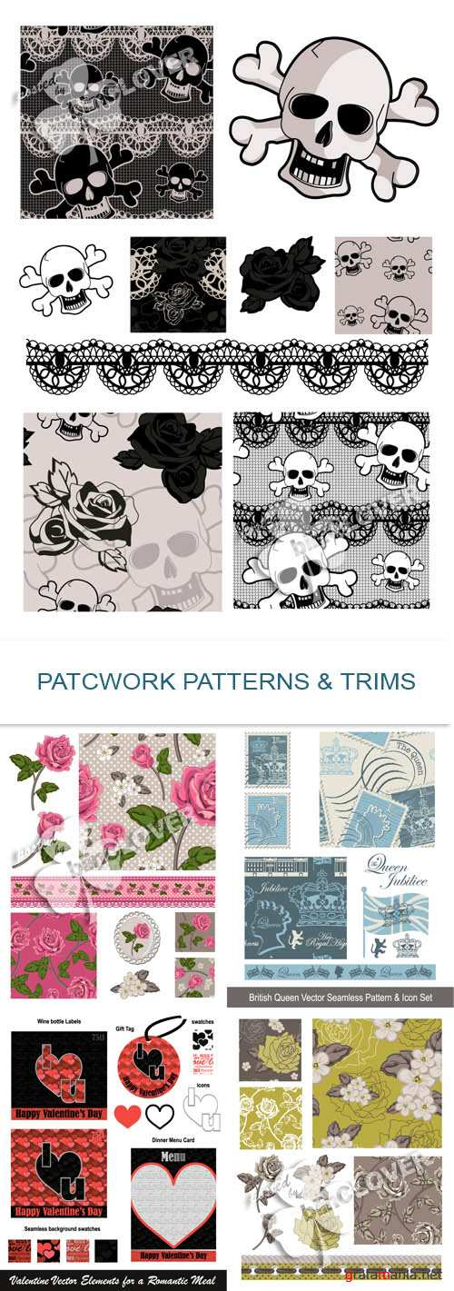 Patchwork patterns and trims 0266