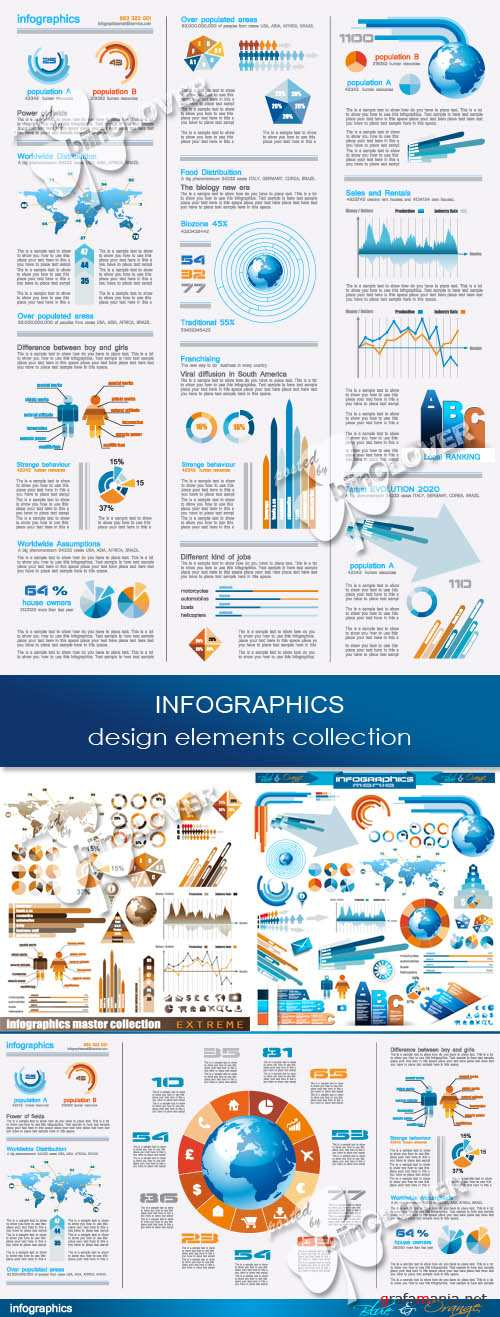 Infographics design elements collection 0266