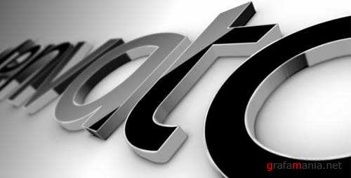 Black Classic 3D Logo - Project for After Effects (VideoHive)