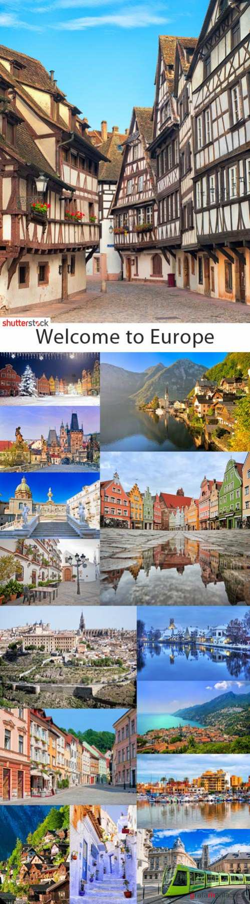 Welcome to Europe - 25 HQ Stock Photo