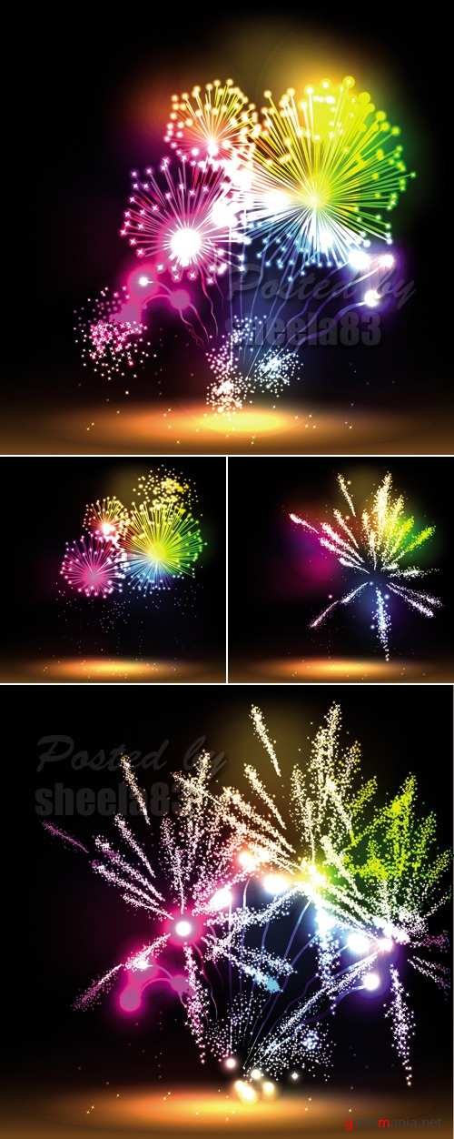Abstract Fireworks Vector