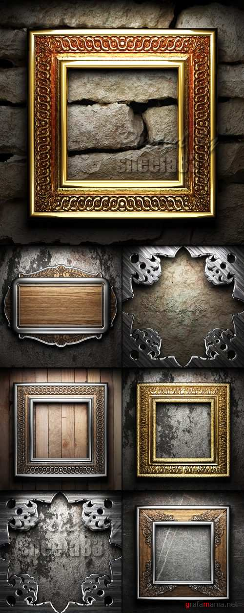 Stock Photo - Vintage Frames Collection