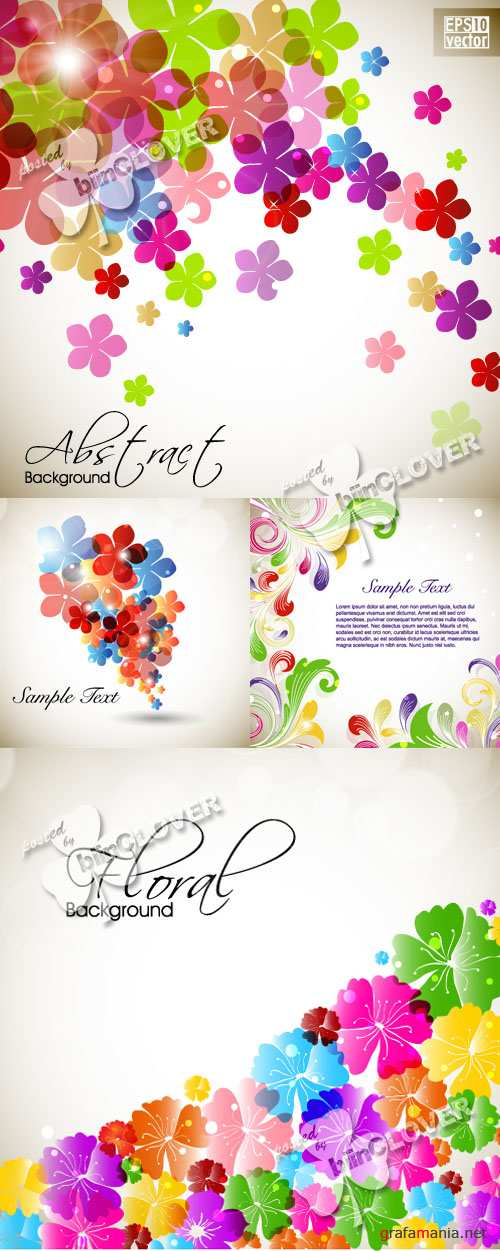 Beautiful floral background 0272