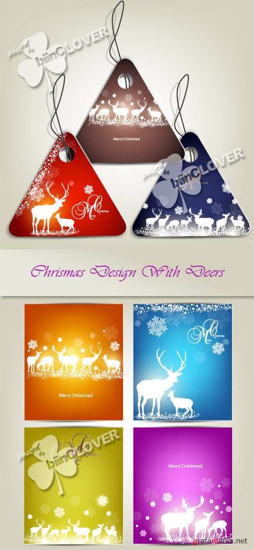 Christmas design with deers 0272