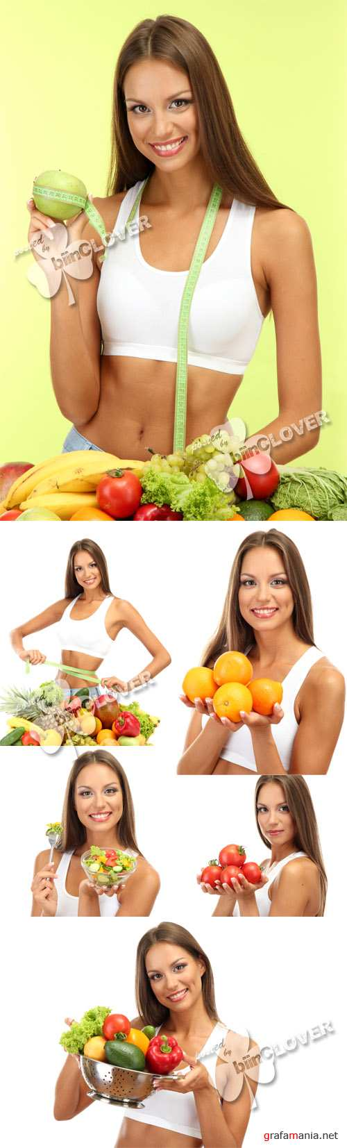 Woman with fruits and vegetables 0272