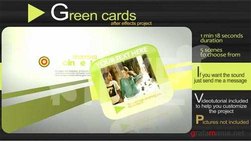 Green Cards After Effects Project - Project for After Effects (VideoHive)