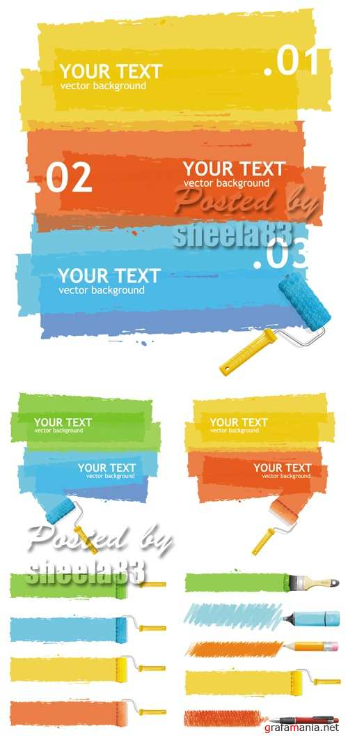 Color Paint Brush Vector