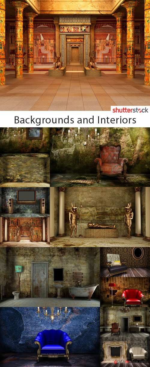 Backgrounds and Interiors - 25 HQ JPEG Stock Photo