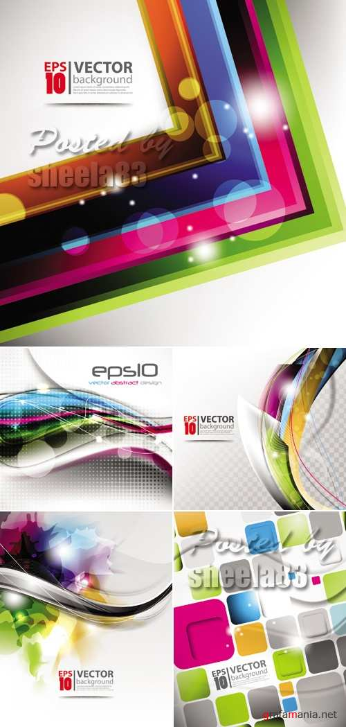 Multicolor Abstract Backgrounds Vector 2