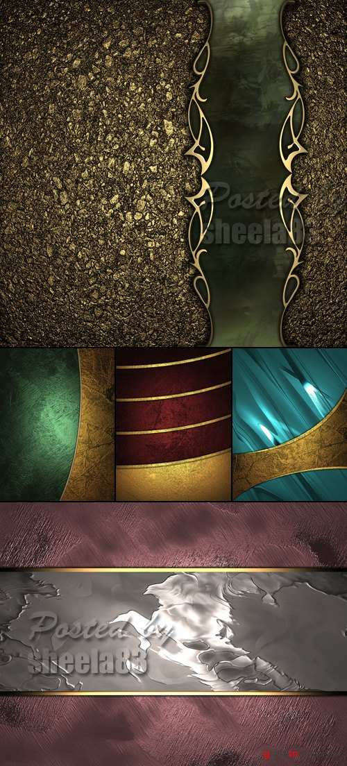 Stock Photo - Metal Backgrounds with Ornaments
