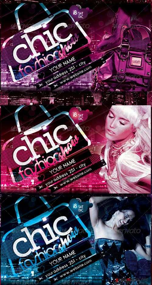GraphicRiver Chic Fashion Show Flyer Template
