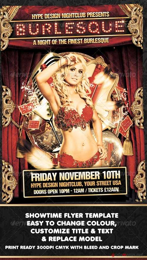 GraphicRiver Burlesque Flyer Template