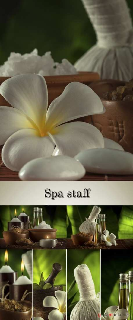 Stock Photo: Exotic flowers and accessories for Spa