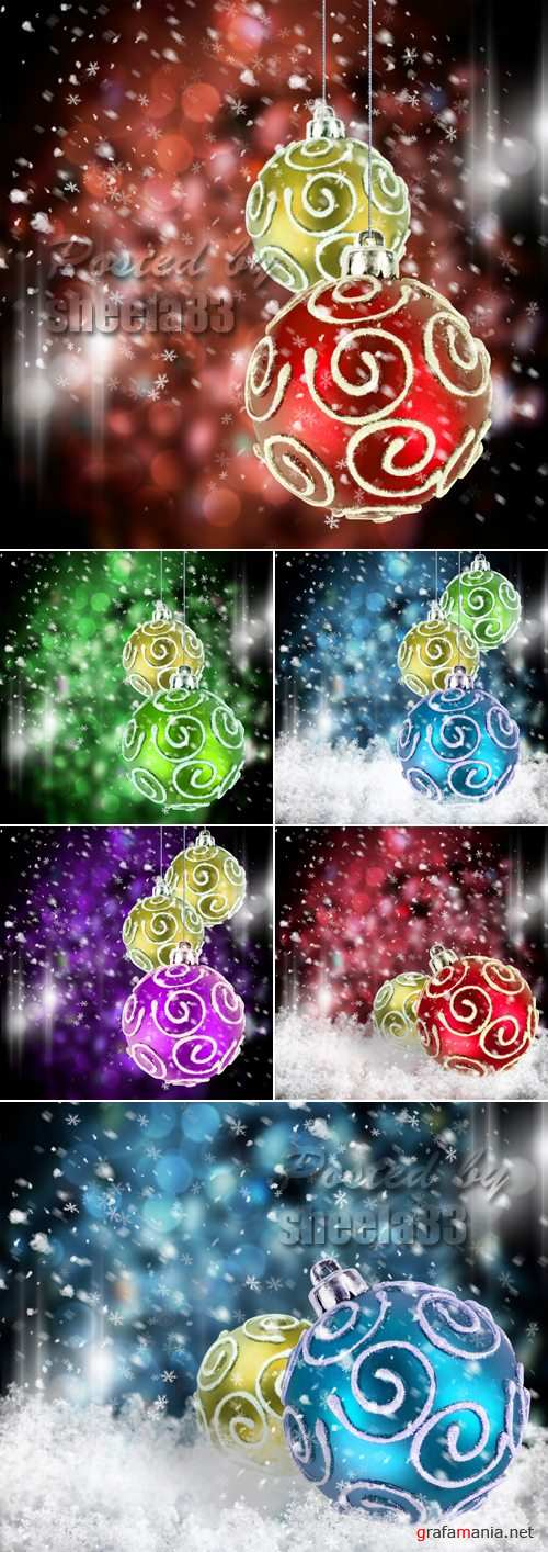 Stock Photo - Color Christmas Decorations
