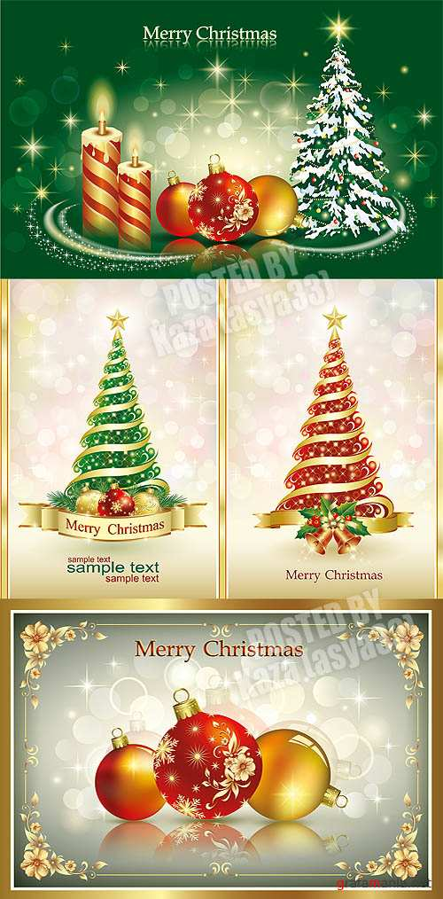 New Year cards & Christmas tree