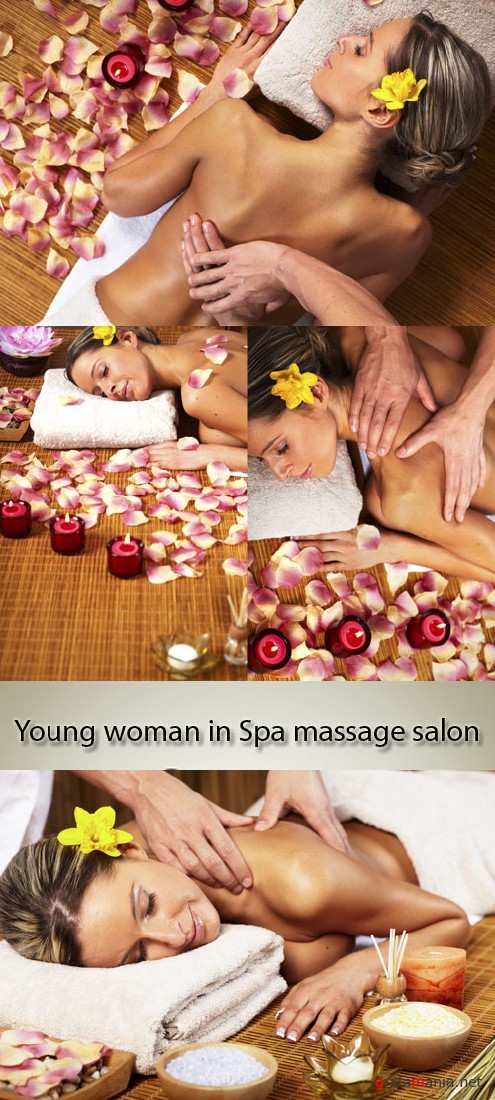 Stock Photo: Young woman in Spa massage salon