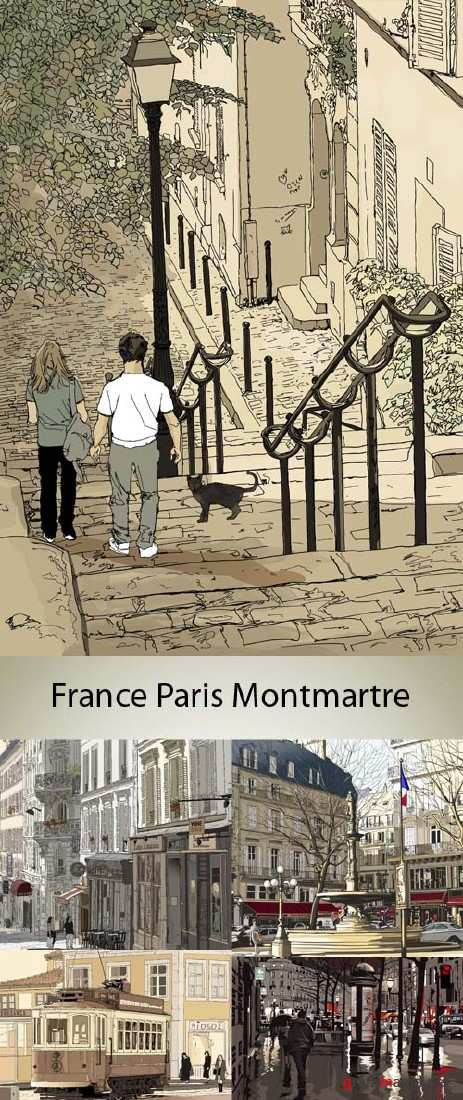 Stock: France, Paris, monuments