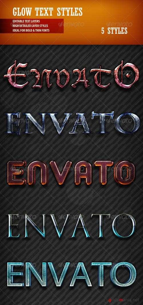 GraphicRiver Glow Text Styles