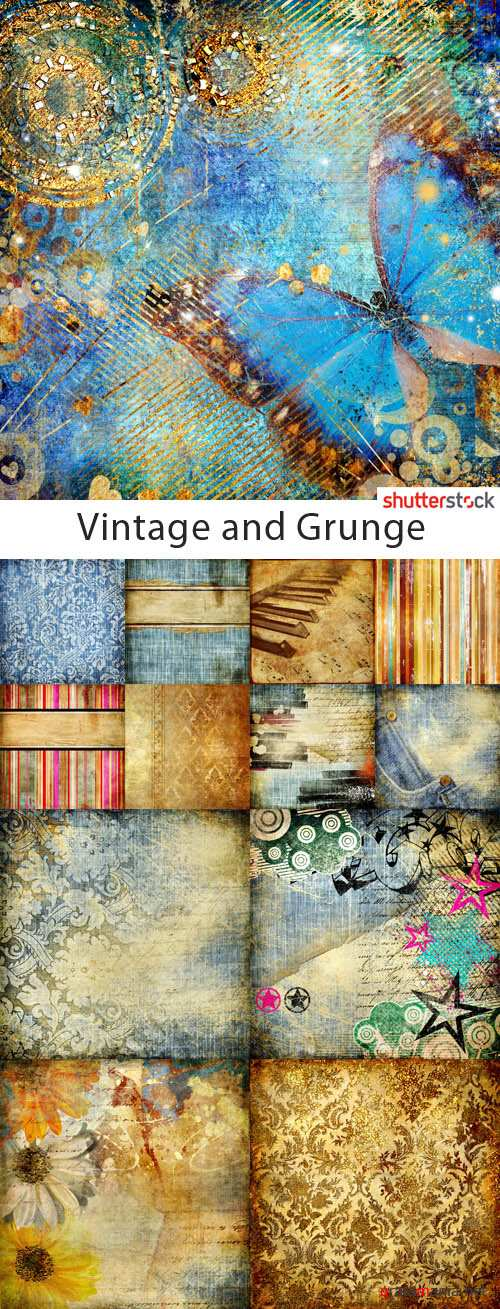 Vintage and Grunge Backgrounds - 25 HQ JPEG Stock Photo