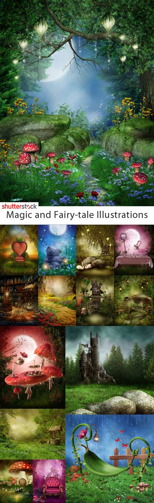 Magic and Fairy-tale Illustrations - 25 HQ JPEG Stock Images S