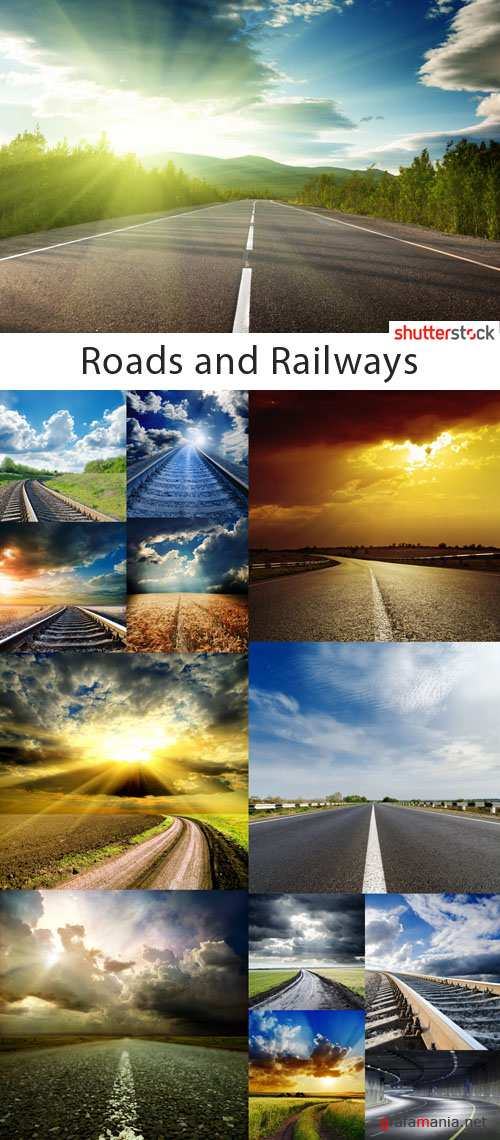 Roads and Railways Collection - 25 HQ JPEG Stock Photo