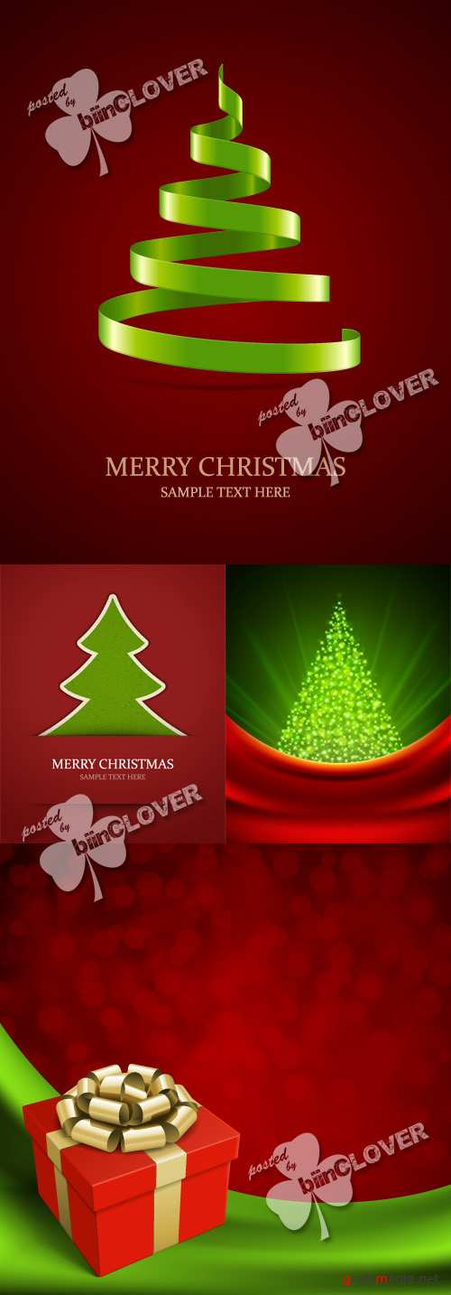 Christmas tree and gift background 0283