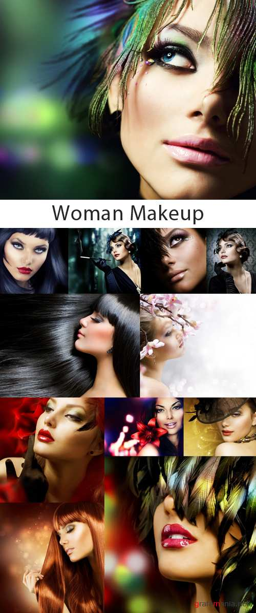 Woman Makeup Collection - 25 HQ Stock Images