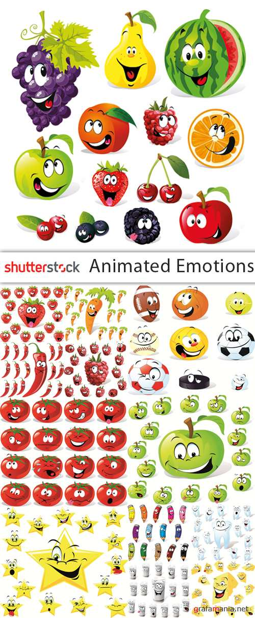 Animated Emotions Collection - 23 EPS Vector Stock