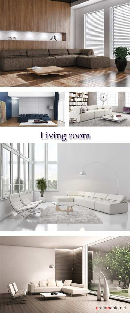Stock Photo: Living room  in natural tones