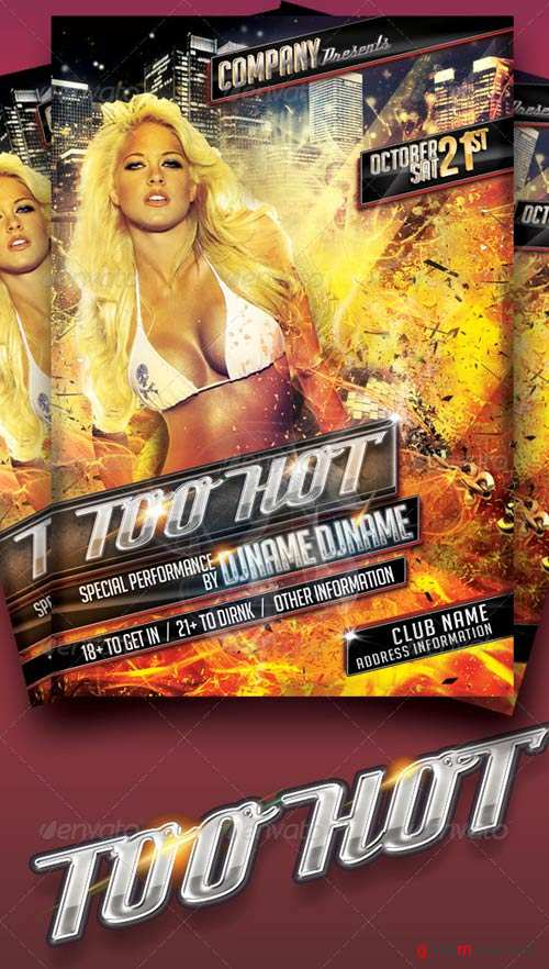GraphicRiver Too Hot Flyer