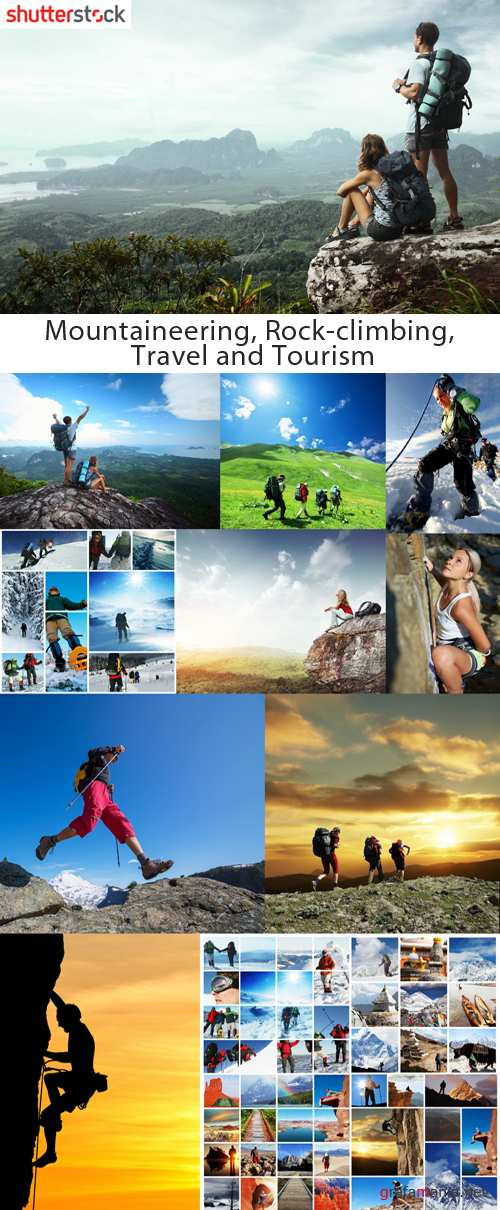 Mountaineering, Rock-climbing, Travel and Tourism - HQ Stock Photo