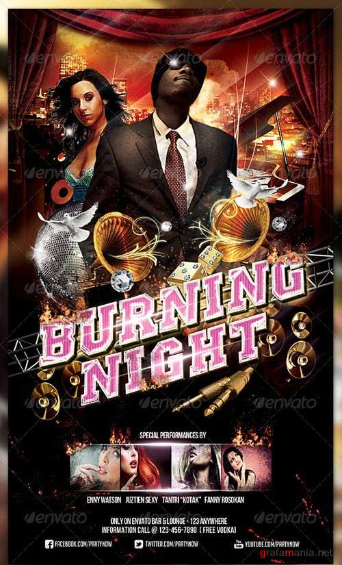 GraphicRiver Burning Night Flyer