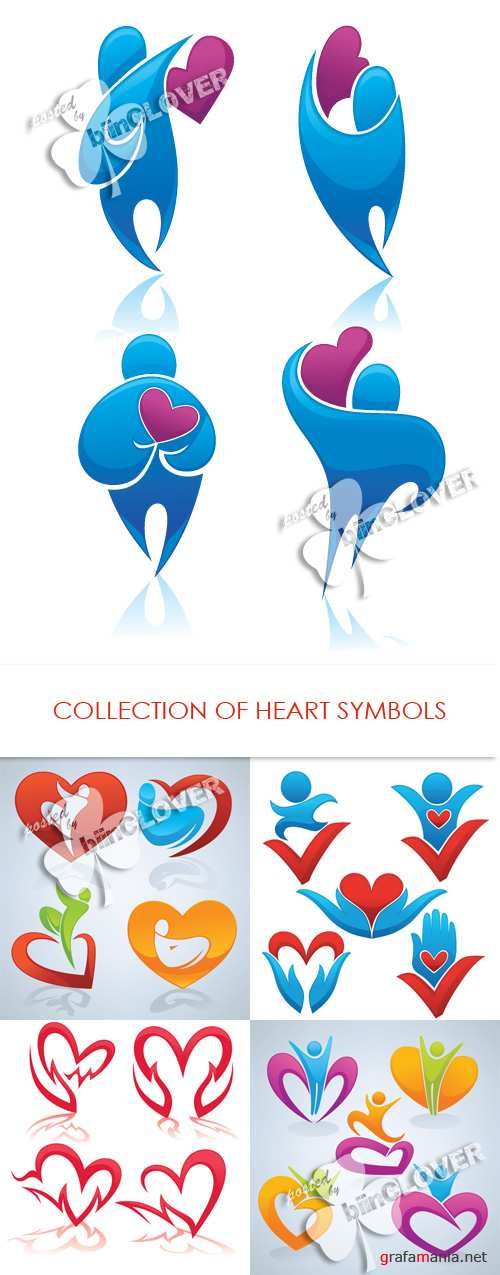 Collection of heart symbols 0296