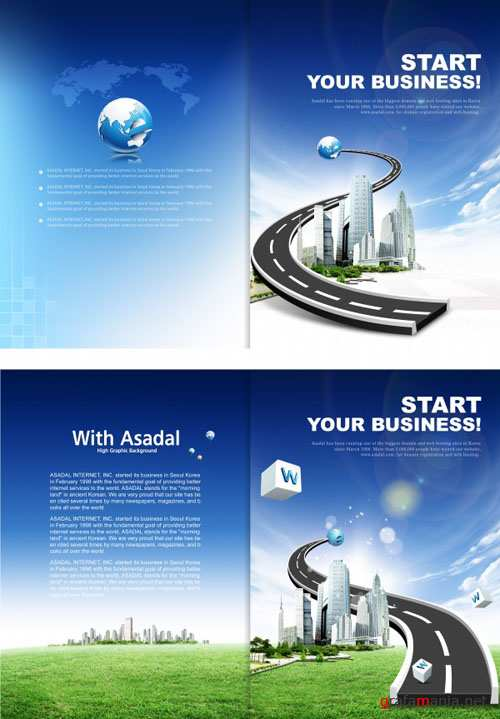 Business Brochure Cover - Asadal Design