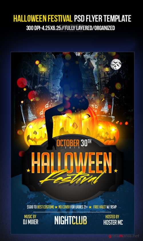 PSD Template - Halloween Festival Party Flyer/Poster