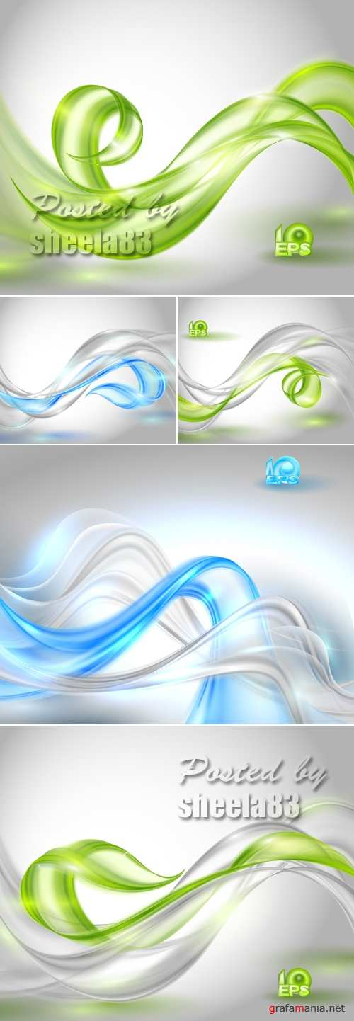Abstract Waves Backgrounds Vector