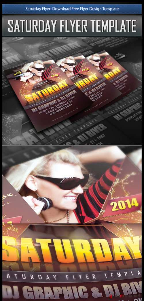 Saturday Flyer/Poster Design PSD Template