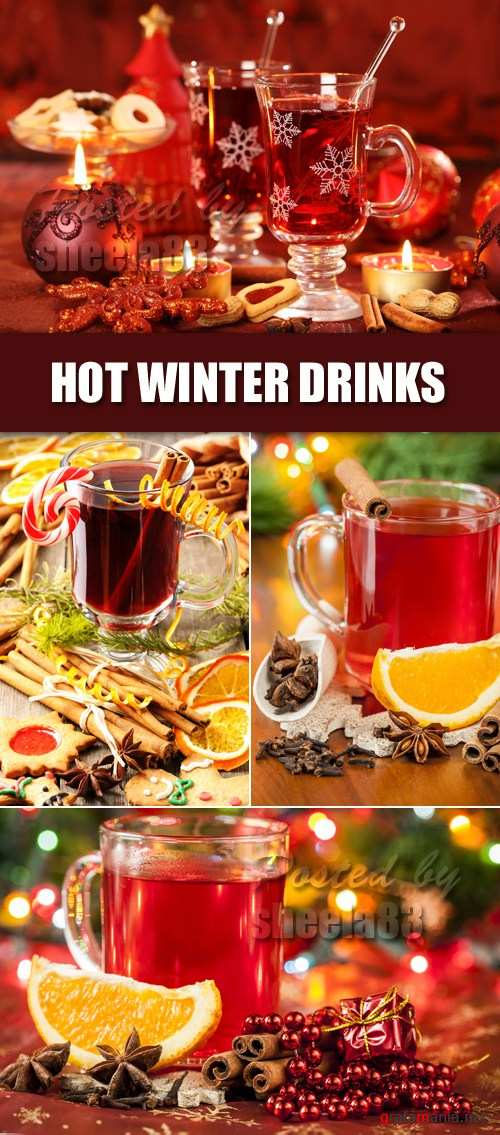 Stock Photo - Hot Winter Drinks