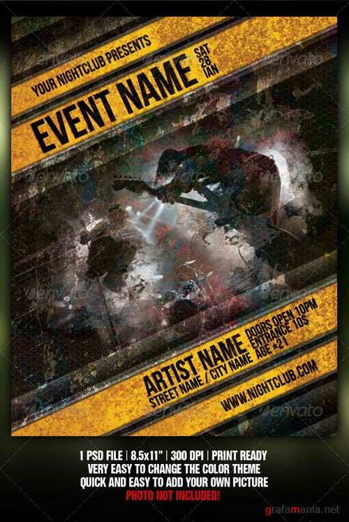 GraphicRiver Grunge Night Club Party/Concert Flyer/Poster V2