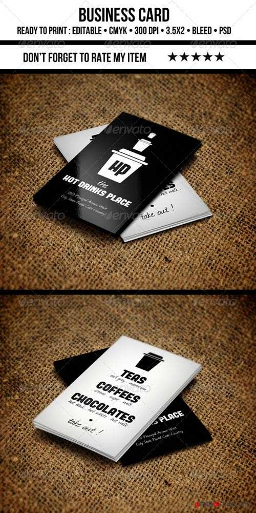 GraphicRiver Coffee Business Card