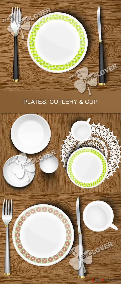 Plates, cutlery and cup 0349