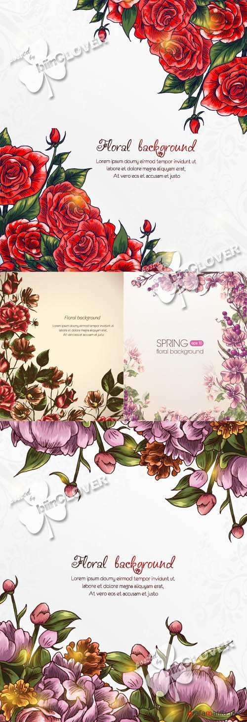 Beautiful background with flowers 0349