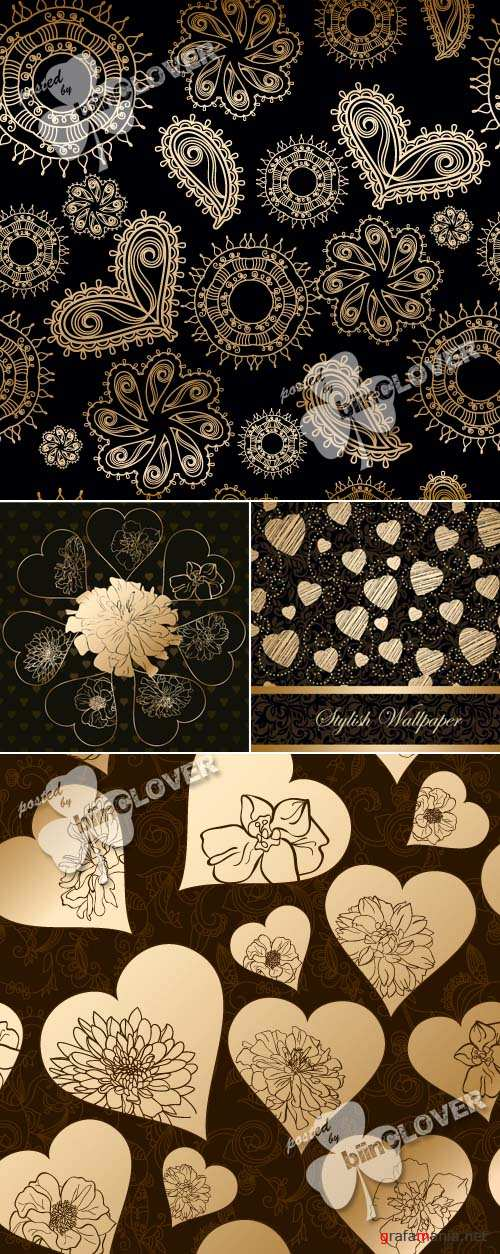 Luxury background with hearts 0349
