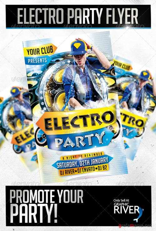 GraphicRiver Electro Party Flyer Template