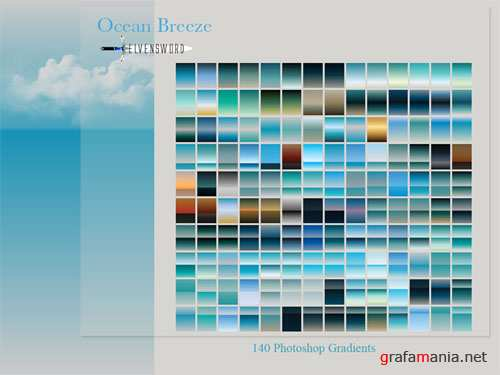 140 Ocean Breeze Photoshop Gradients
