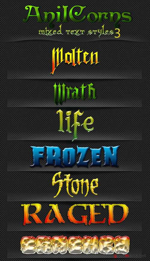 Mixed Layer Text Photoshop Styles #3