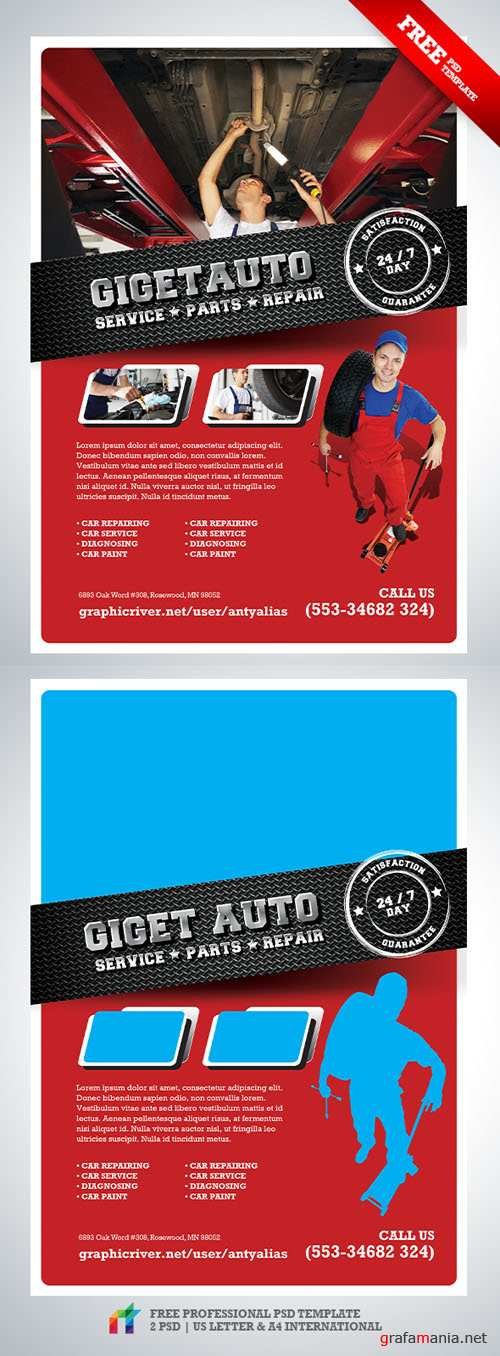 GiGET Auto Service Flyer/Poster PSD Template